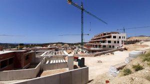 Obras construcción Seascape Resort en Benidorm